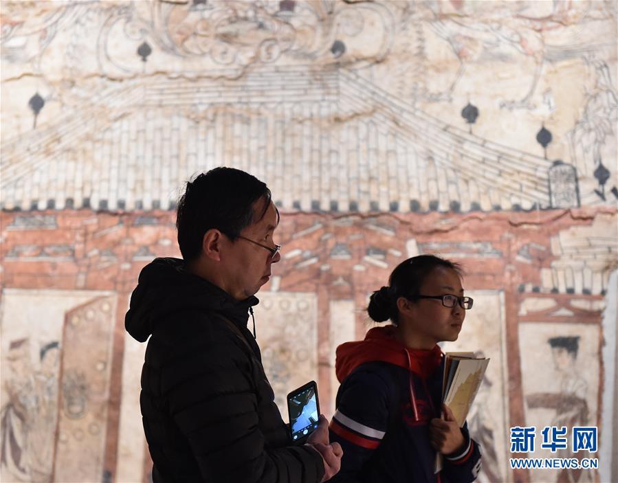 """(图文互动)(1)北朝墓葬壁画首次集中亮相 一展1500年前""""壁上乾坤"""""""