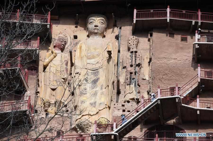 In pics: Maiji Mountain Grottoes in Tianshui, China's Gansu