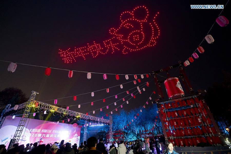 6th East Lake Latern Show held in central China's Wuhan