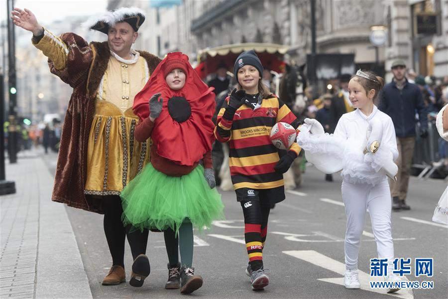 (国际)(2)英国伦敦举行新年游行