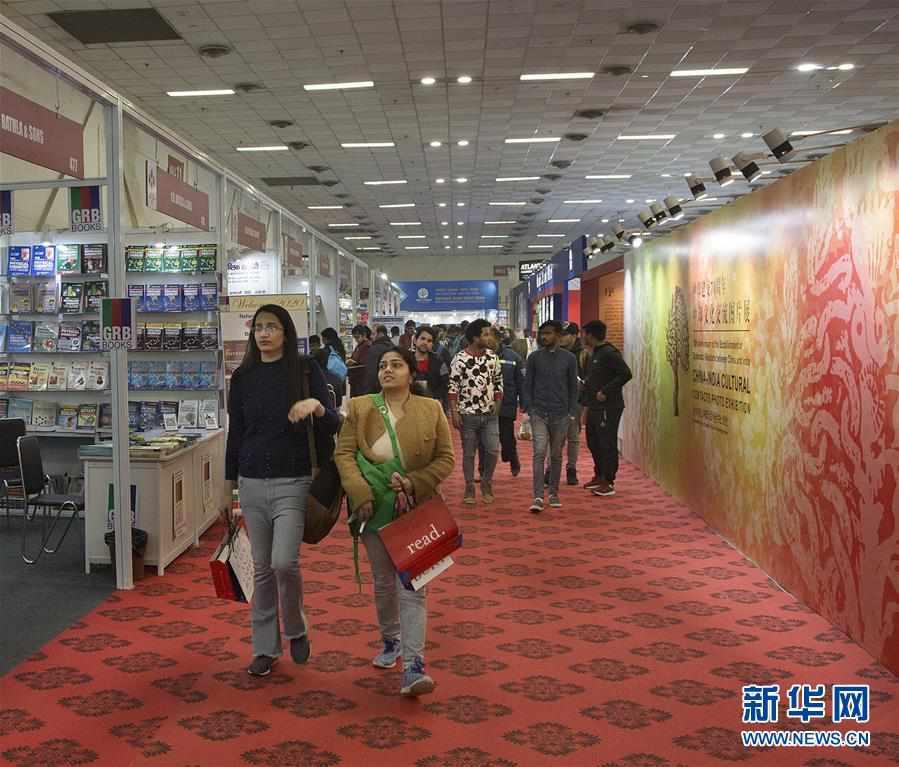 """(国际)(1)""""阅读中国""""图书展暨""""中印文化交流图片展""""在新德里举行"""