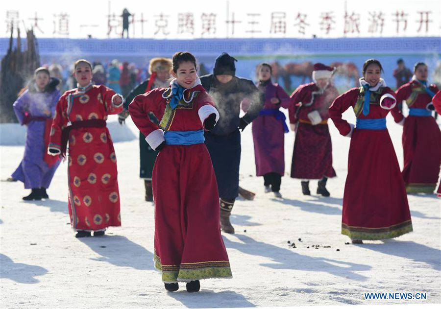13th winter fishing and traveling festival opens in Chifeng, N China