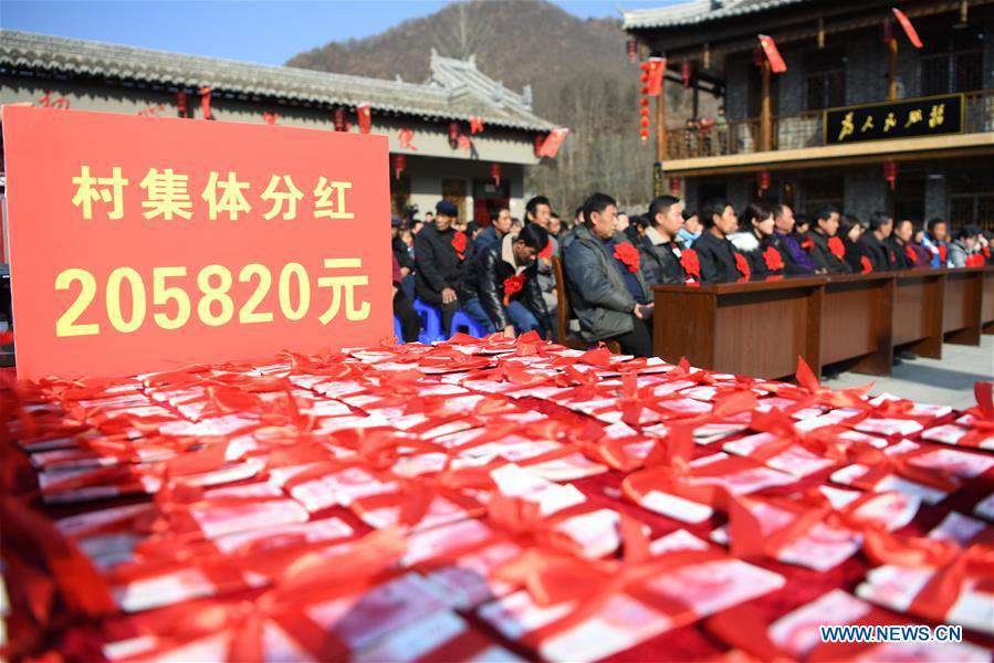 Northwest China's village gets rid of poverty by setting up cooperatives