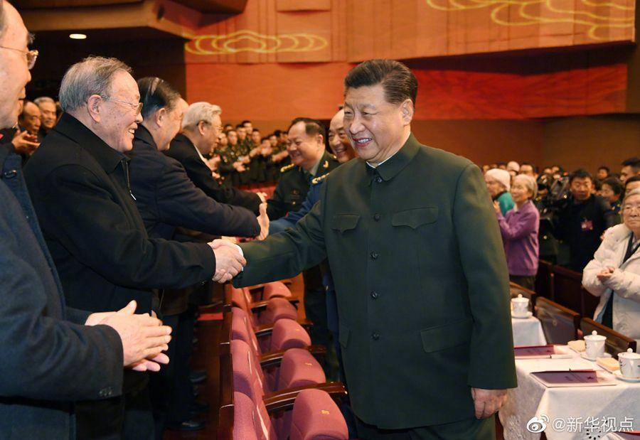 习近平向全军老同志祝贺新春佳节