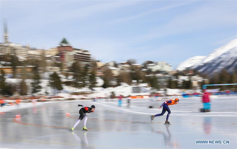 (SP)SWITZERLAND-ST. MORITZ-WINTER YOG-SPEED SKATING