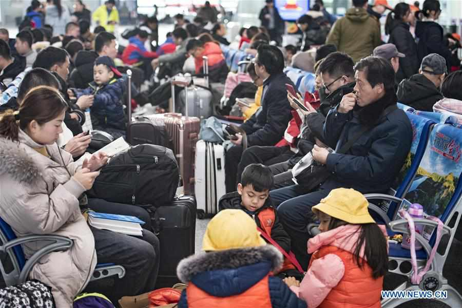 Xi'an North Railway Station witnesses travel rush during Spring Festival