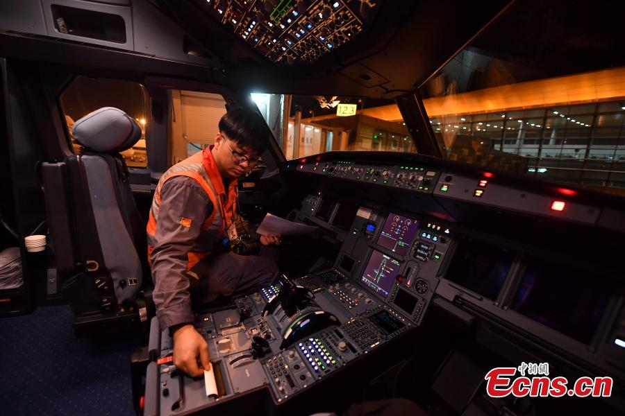 Airlines staff enhance maintenance for Spring Festival travel rush