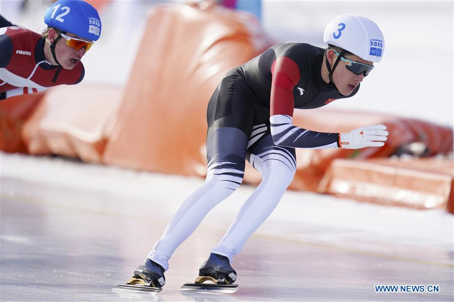 In pics:speed skating event at 3rd Winter Youth Olympic Games