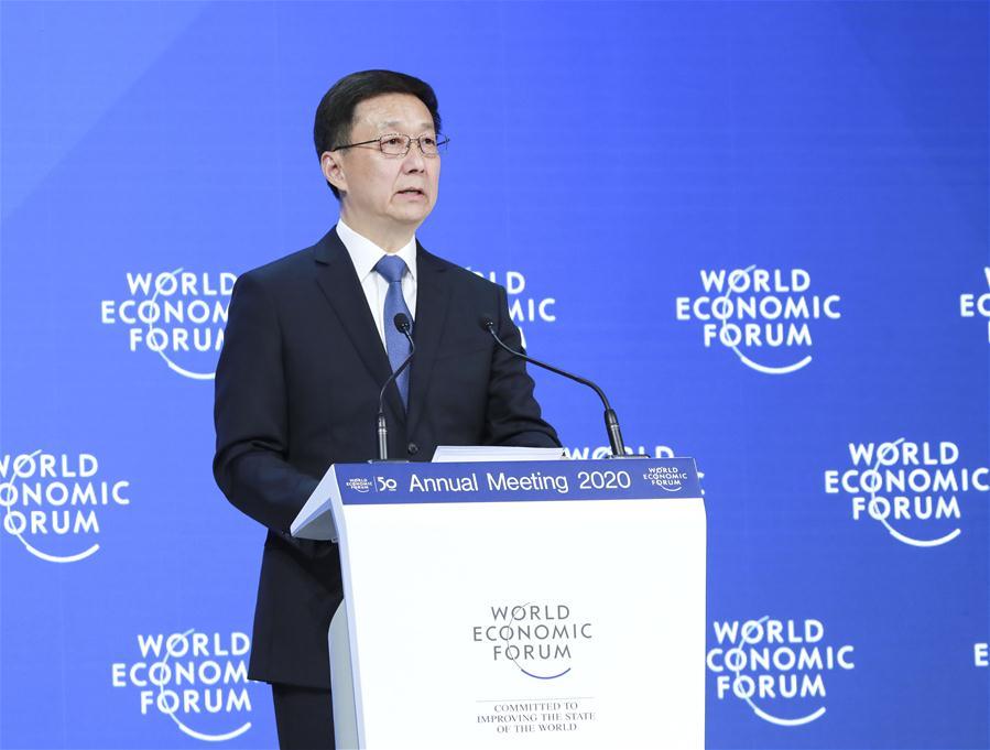 SWITZERLAND-DAVOS-HAN ZHENG-WEF ANNUAL MEETING