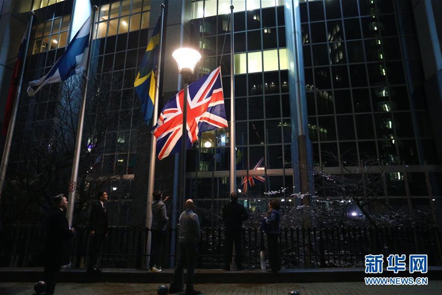(国际)(1)欧洲议会降下英国国旗