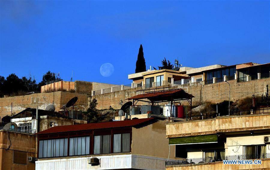 SYRIA-DAMASCUS-MOON