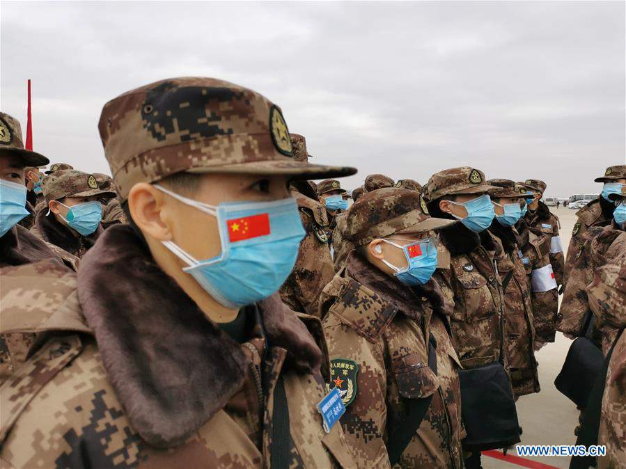 CHINA-HUBEI-WUHAN-NCP-AIR FORCE-MILITARY MEDICS (CN)