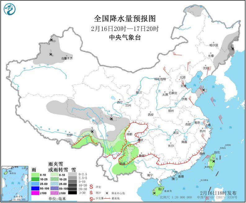 东北东部新疆北部有降雪 浙江局地有大风