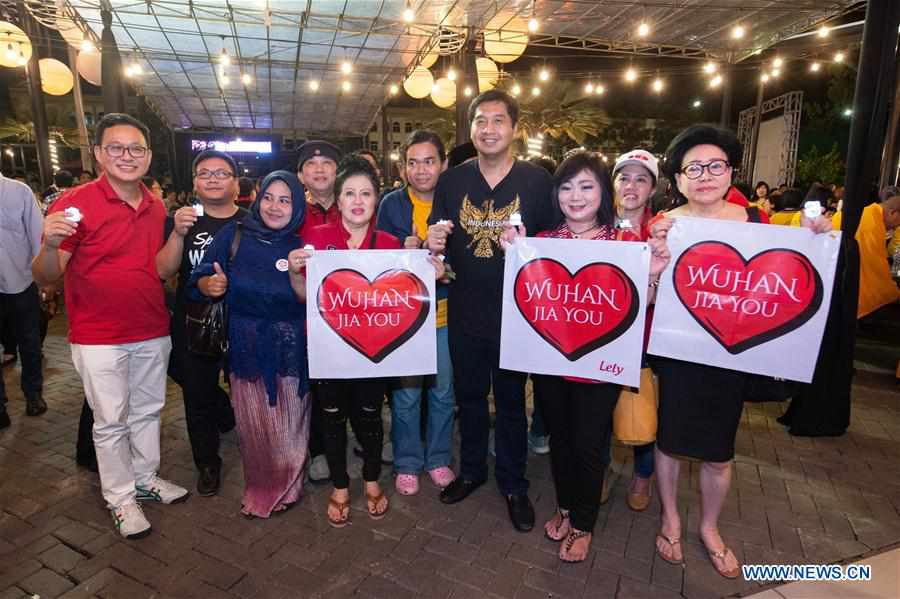 People Attend Event To Support Wuhan In Jakarta Indonesia People S Daily Online