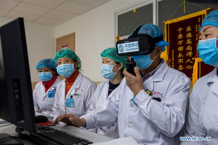 """5G+VR"" visiting system put into use in isolation ward of hospital in Kunming, SW China"