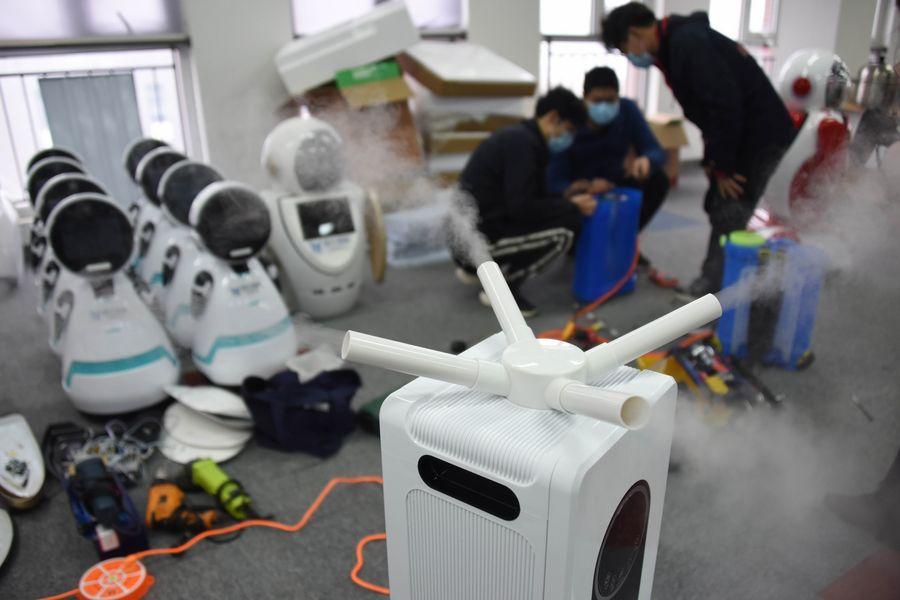 coronavirus robot 5G tecnologia salute laura fasano benessere tecnologico disinfettante