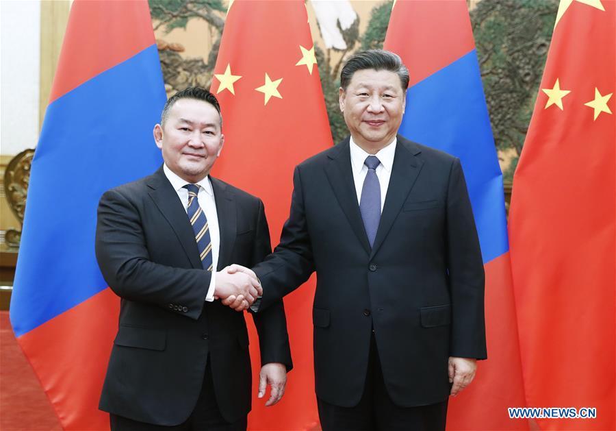 CHINA-BEIJING-XI JINPING-MONGOLIAN PRESIDENT-TALKS (CN)