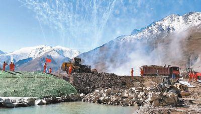 西藏湘河水利樞紐及配套灌區工程如期成功截流