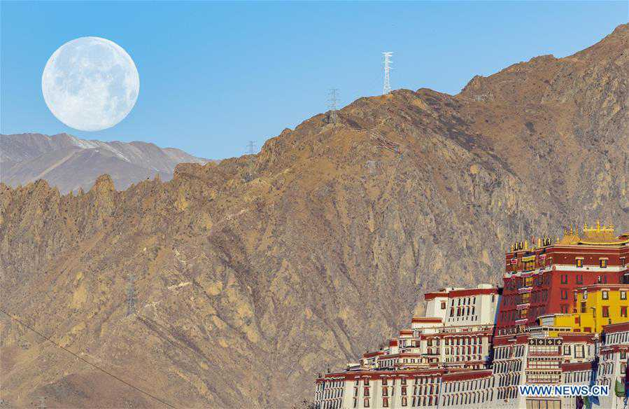 CHINA-TIBET-SUPER MOON (CN)