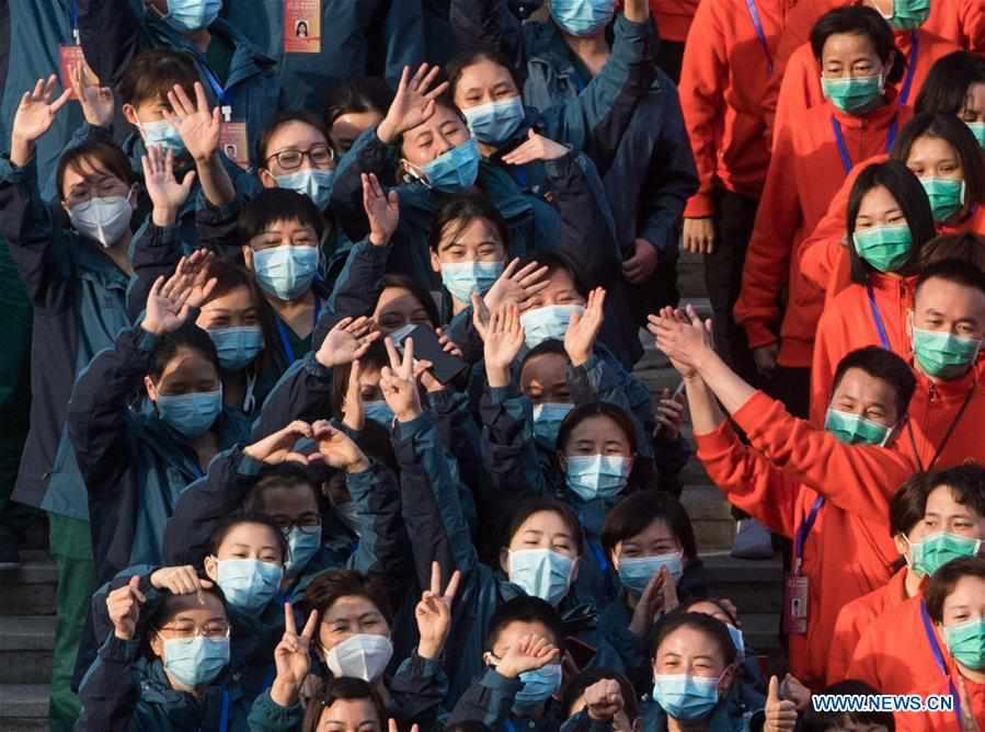 CHINA-WUHAN-TEMPORARY HOSPITALS-CLOSURE (CN)