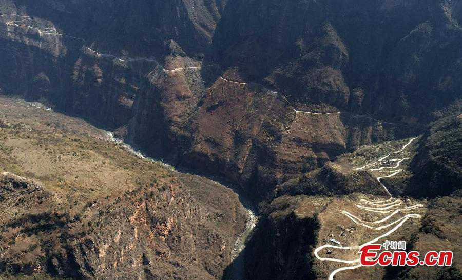 Path out of poverty: Cliff roads constructed in SW China county