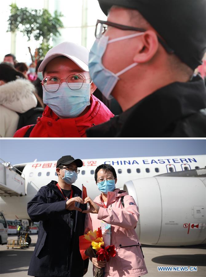 CHINA-GANSU-LANZHOU-MEDICAL STAFF-RETURN HOME-ARRIVAL (CN)