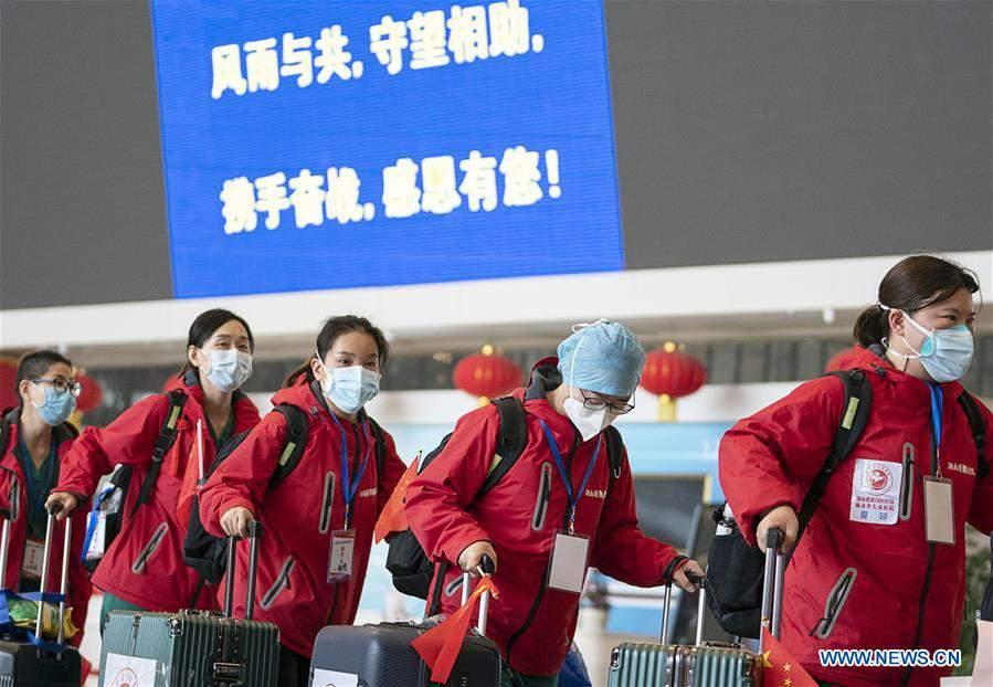 CHINA-HUBEI-WUHAN-MEDICAL STAFF FROM HUNAN-DEPARTURE (CN)