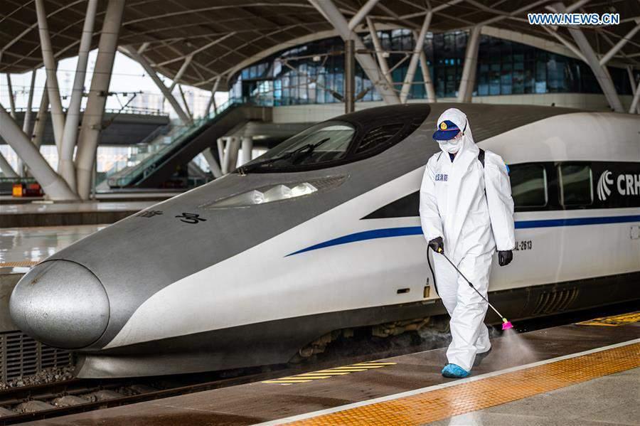 #CHINA-HUBEI-WUHAN-RAILWAY STATION-DISINFECTION (CN)