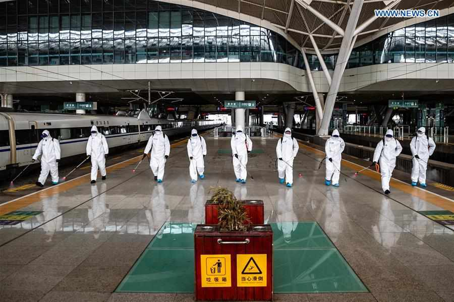 #CHINA-HUBEI-WUHAN-RAILWAY STATION-DISINFECTION (CN)