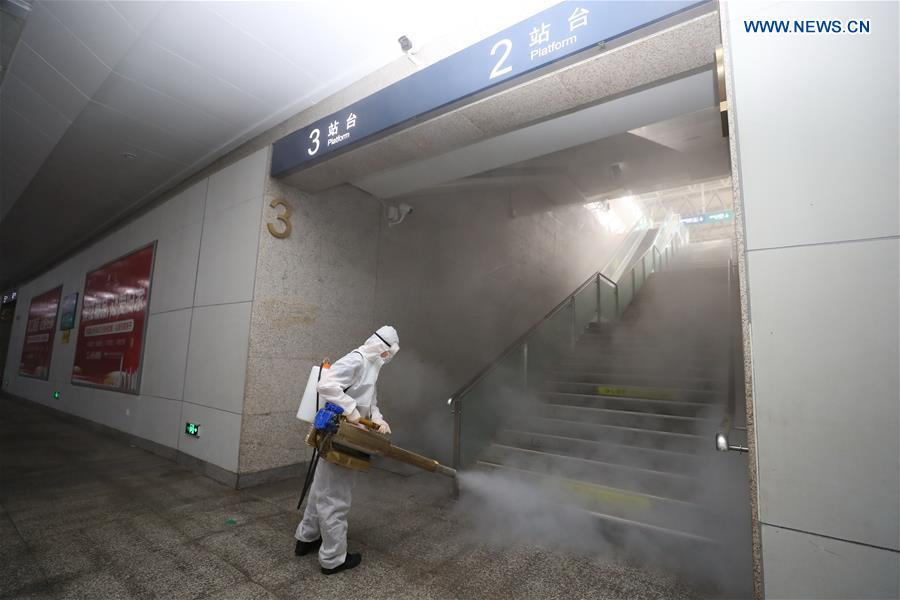 #CHINA-HUBEI-YICHANG-RAILWAY STATION-DISINFECTION (CN)