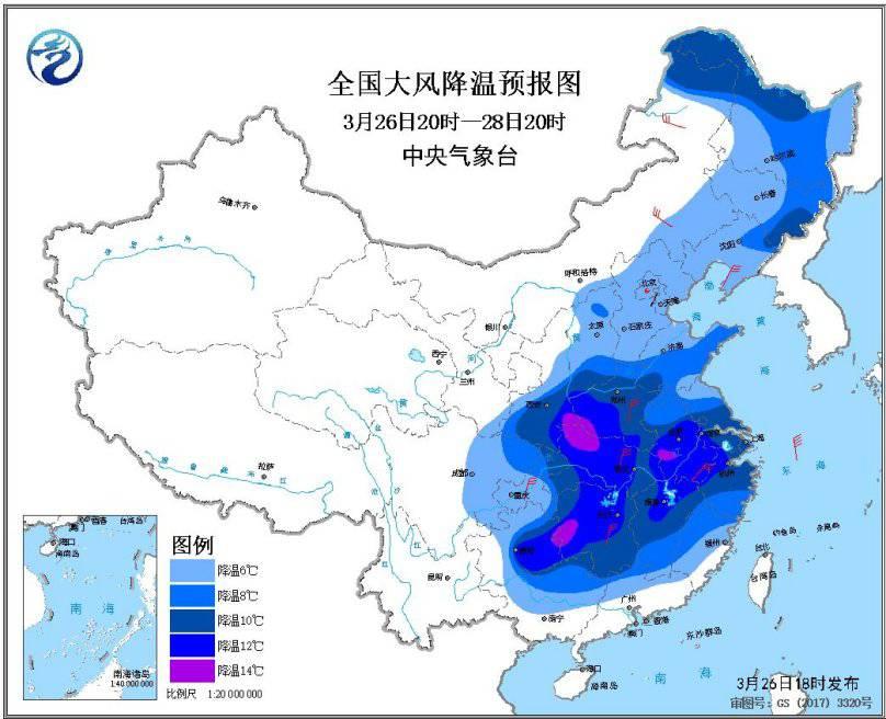 较强冷空气继续影响我国江南华南等地有较强降雨和强对流