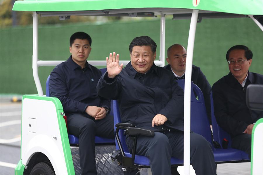 CHINA-ZHEJIANG-ANJI-XI JINPING-INSPECTION (CN)