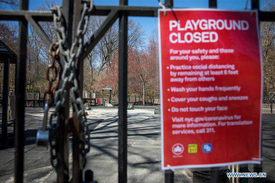 New York City playgrounds closed to address disobedience of maintaining social distancing