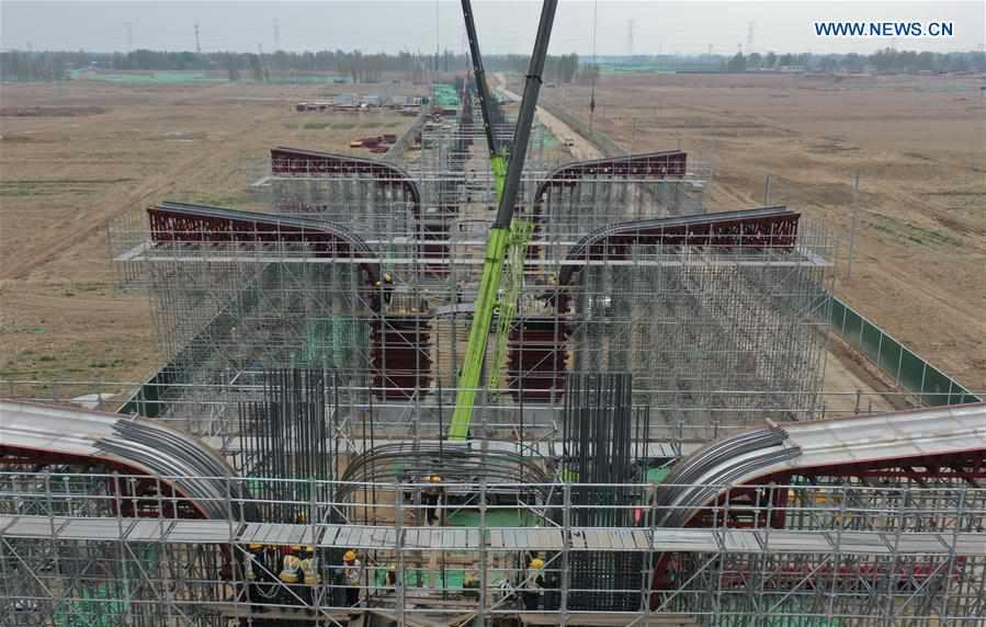 Beijing-Xiongan expressway under construction