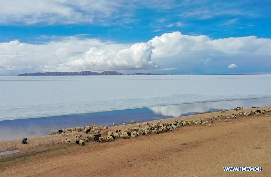 Scenery of Siling Lake in China's Tibet