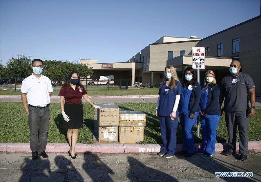 U.S.-TEXAS-HOUSTON-CHINESE STUDENTS-PPE DONATION