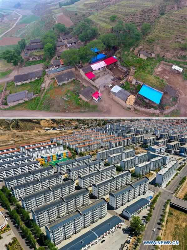 Villagers move to poverty-relief relocation area, embrace better life in Shanxi