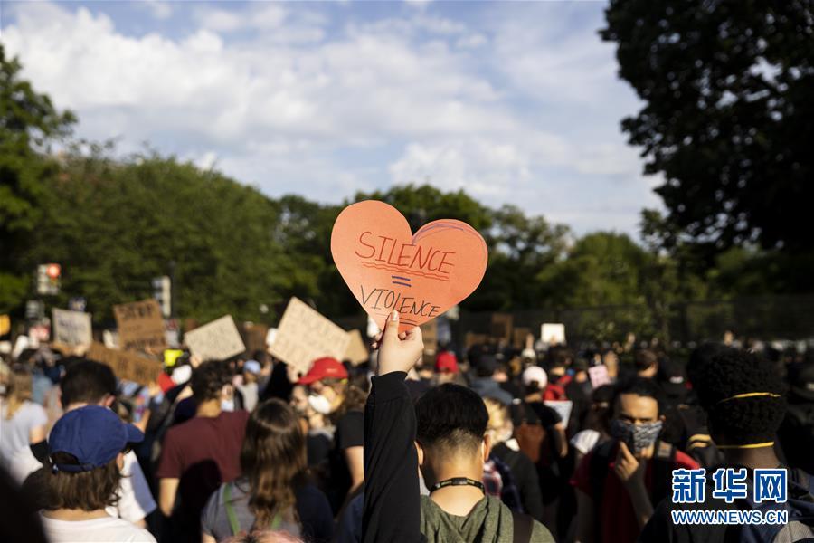 (国际)(1)美国华盛顿示威者继续走上街头