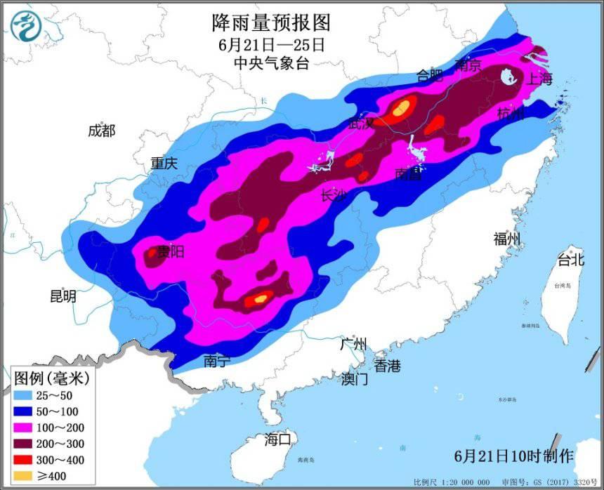 未来5天南方10余省市将迎入汛以来最强降雨过程 持续时间长