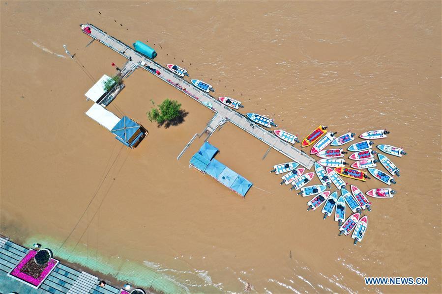 CHINA-GANSU-LANZHOU-YELLOW RIVER-WATER LEVEL (CN)