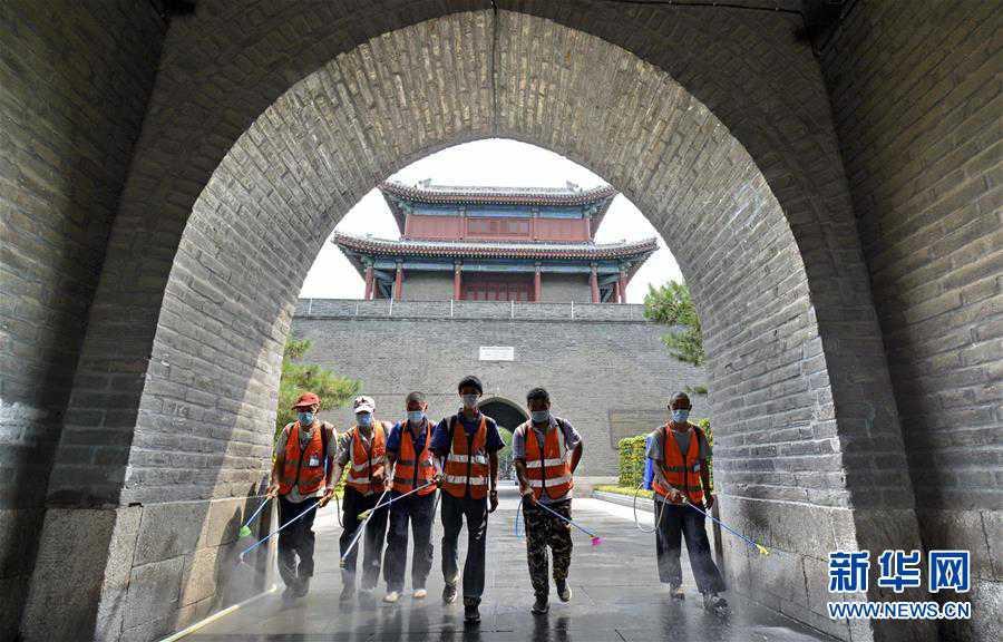(聚焦疫情防控)(2)北京豐台:開展環境消毒 保障市民安全