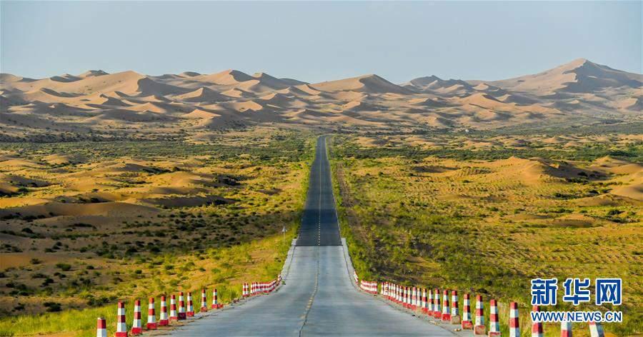 (美丽中国)(3)腾格里沙漠夏日即景