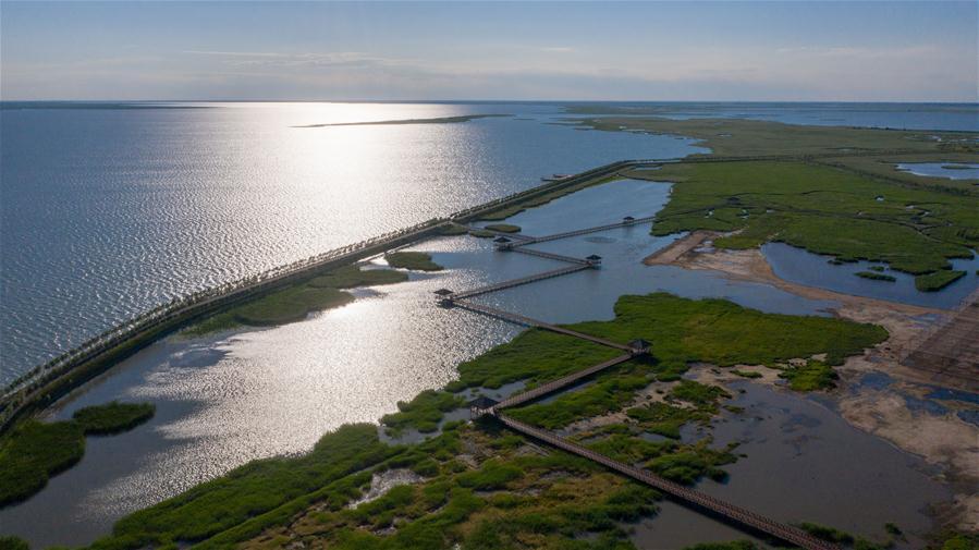 吉林省东北部查干湖附近的生态环境得到改善