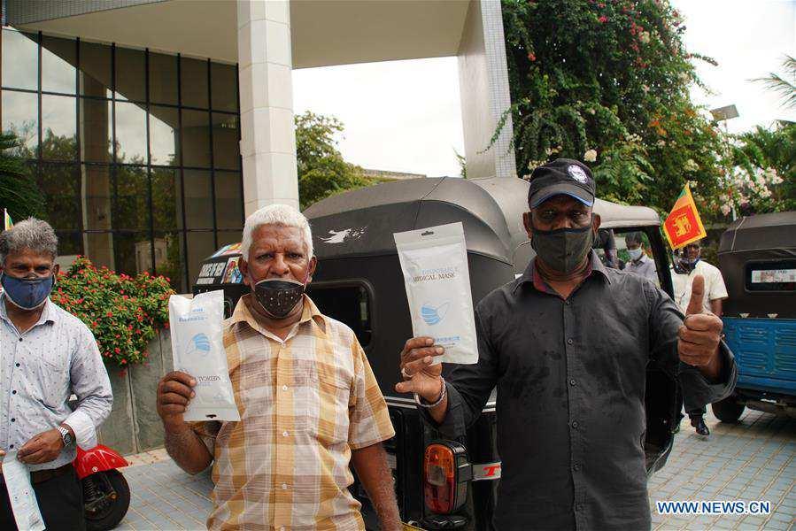 SRI LANKA-COLOMBO-CHINA-DONATION-THREE-WHEEL DRIVERS