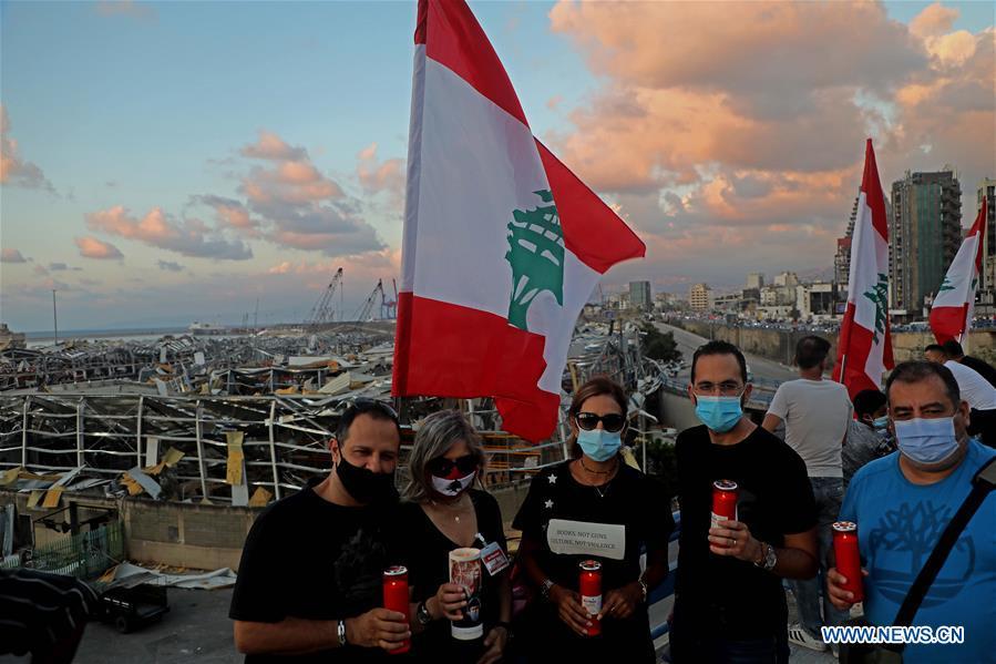 LEBANON-BEIRUT-EXPLOSIONS-CANDLELIGHT-MOURNING