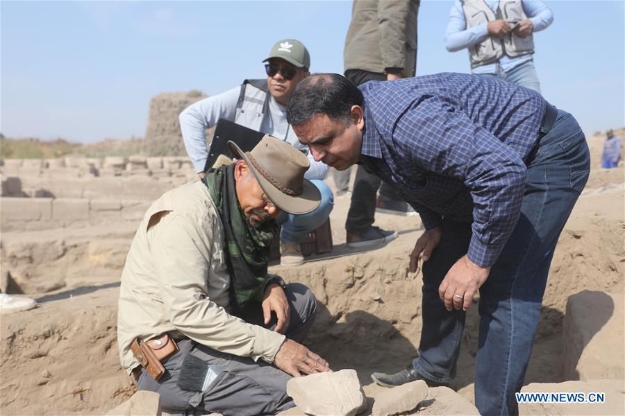 EGYPT-LUXOR-MONTU TEMPLE-CHINA-ARCHEOLOGY-EXCAVATION