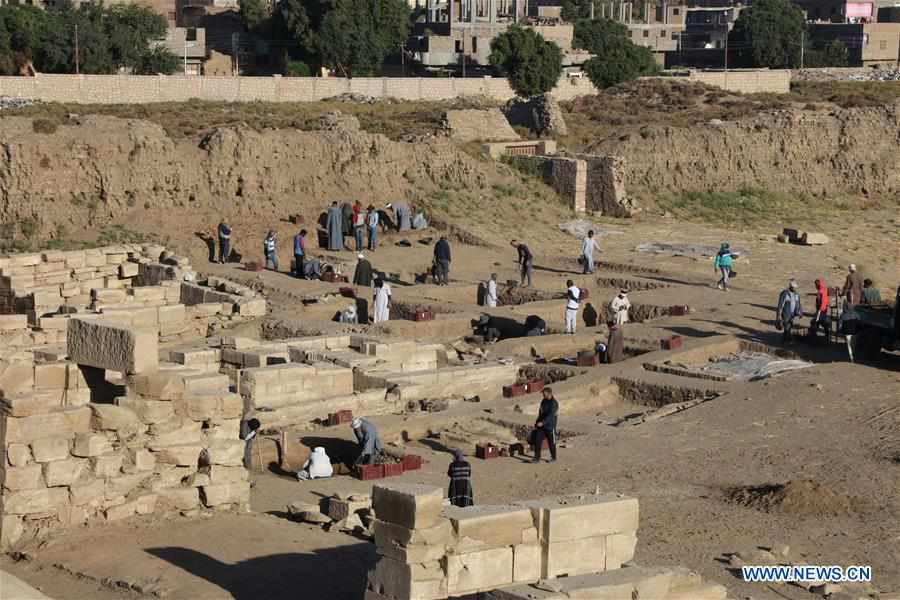EGYPT-LUXOR-MONTU TEMPLE-CHINA-ARCHEOLOGY-EXCAVATION