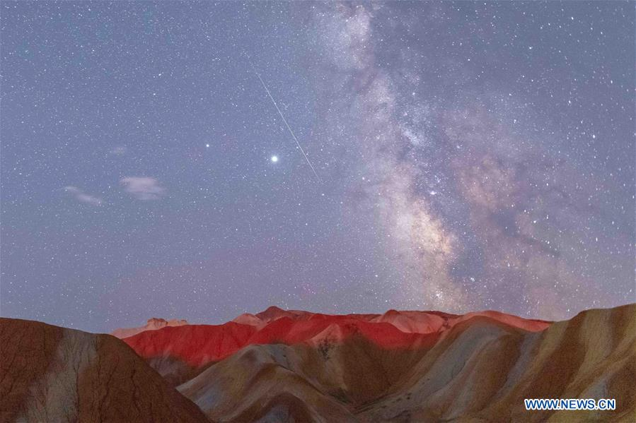 #CHINA-GANSU-ZHANGYE-PERSEID METEOR SHOWER (CN)