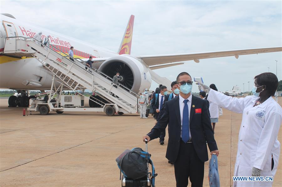 SOUTH SUDAN-JUBA-CHINESE MEDICAL EXPERT TEAM-ARRIVAL