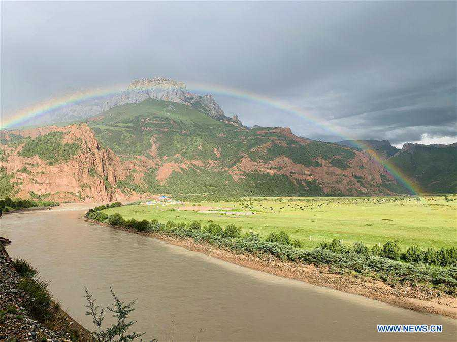 View of Angsai Canyon in Qinghai